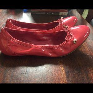 Alexander McQueen pink patent leather ballet flats